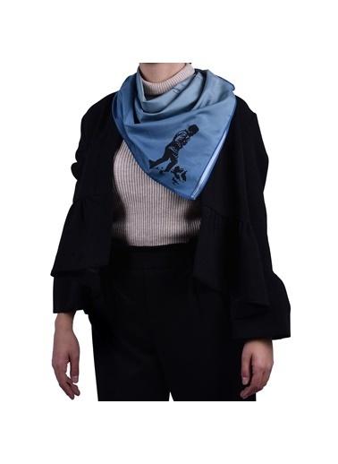 İpekpark  Atatürk Serisi Fular Mavi